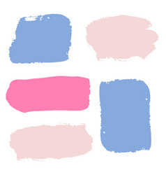 colorful brush stroke shopping banners set vector image