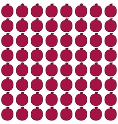 Pomegranate pattern vector