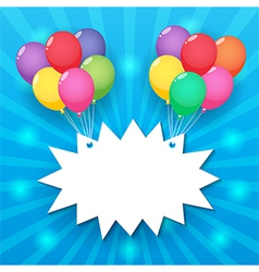 Balloon sky background vector