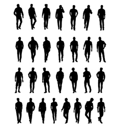 Silhouettes of men vector