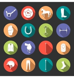 Set of icons and sign of polo vector