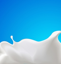 Splash of milk or yogurt - with blue backgro vector