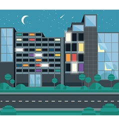 Flat building design vector