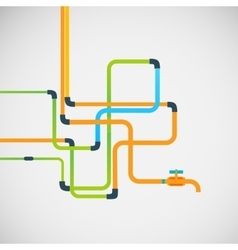 Color abstract design tangled pipes eps vector