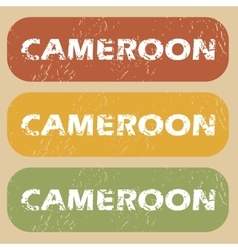 Vintage cameroon stamp set vector