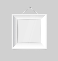 White modern frames on the wall vector