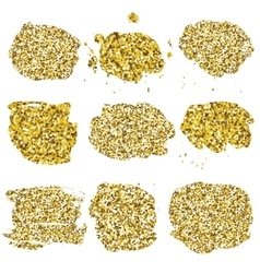 Set of glitter golden blots vector