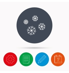 Snowflakes icon snow sign air conditioning vector