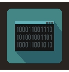 Binary code icon in flat style vector