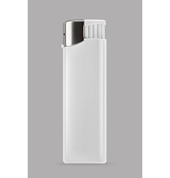 White lighter promotional items mockup vector