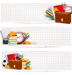 Back to school supplies vector image vector image