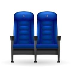 Blue Cinema Seats vector image vector image