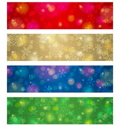 Brightness color christmas banners vector