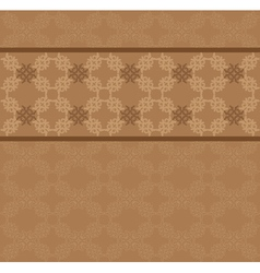 Brown floral lace pattern vector image vector image