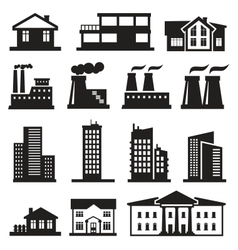 buildings and factories vector image vector image