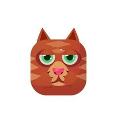 Cat square icon vector