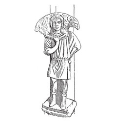Christ the good shepherd is the oldest known vector