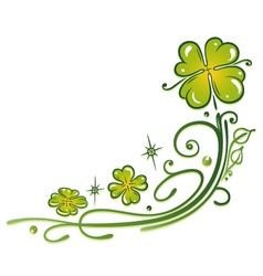 Clovers tendril vector