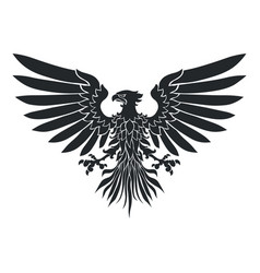 Coat-of-arms eagle vector
