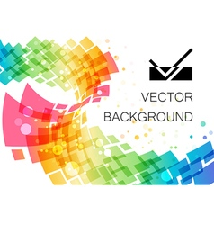 Colored abstract technology geometric curve vector