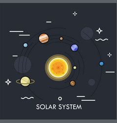 Concept of solar or planetary system vector