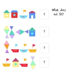 Educational game for children what does not fit vector image