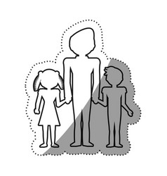 Family people concept outline vector