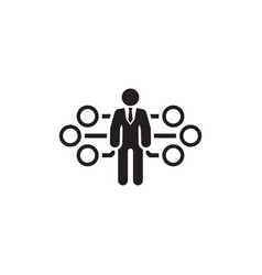 Flow management icon flat design vector