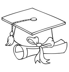 Graduation hat cartoon vector image vector image