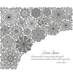 greeting card or template with stylized flowers vector image vector image