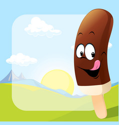 Ice lolly design on natural background - vector