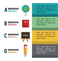 Infographic education school graphic vector