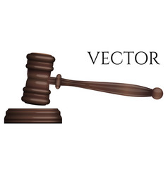 judge gavel isolated on white photo-realistic vector image vector image