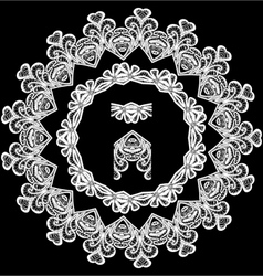 lace round 9 380 vector image vector image