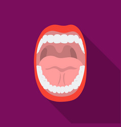 Mouth icon in flat style isolated on white vector