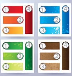 Nature element text box set vector image