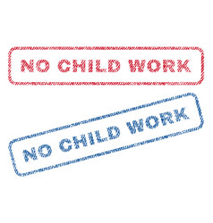 No child work textile stamps vector