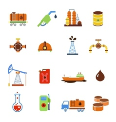 Oil extraction gas production transportation and vector image vector image
