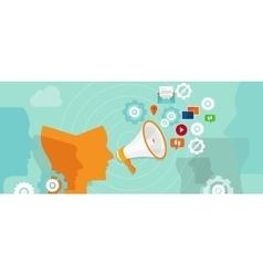Public relation buzzer promotion spreading media vector