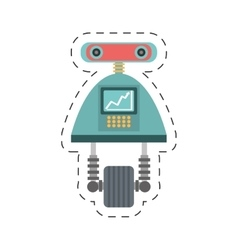 Robot android automation icon cutting line vector