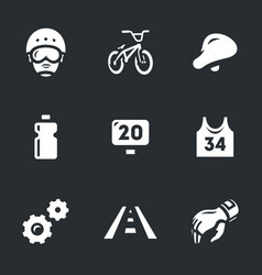 set of cycling icons vector image vector image