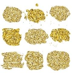 Set of glitter golden blots vector
