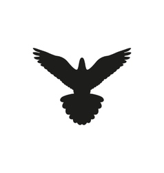 Simple black bird isolated style logo vector image vector image