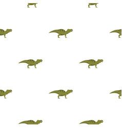 Striped hadrosaurid dinosaur pattern seamless vector
