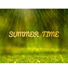 Summer abstract background with rays and bokeh vector