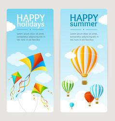 Summer Holiday Card Set vector image vector image