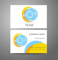 Team company logo business card template vector