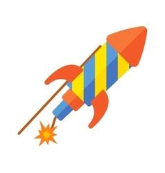 Toy rocket vector image