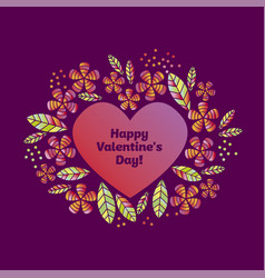 valentine decorative element with heart vector image vector image
