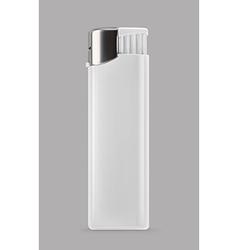 White lighter promotional items mockup vector
